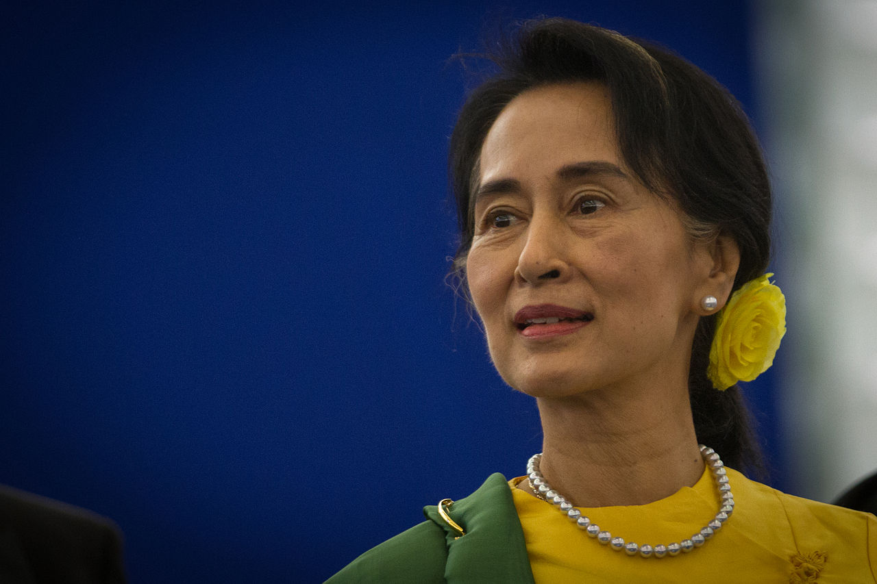 Aung San Suu Kyi. Photo by Claude Truong-Ngoc / Wikimedia Commons.