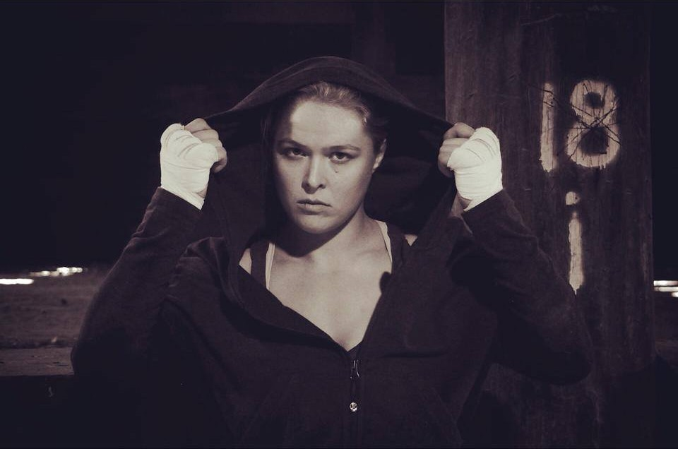 'Rowdy' Ronda Rousey (Photo from Rousey's official Facebook page)
