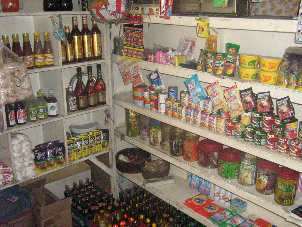 A typical household store or 'sari-sari' store in the Philippines (Wikipedia photo)