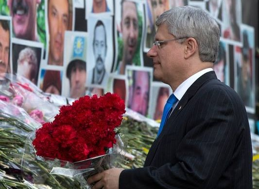 Canada PM Stephen Harper in Kiev, Ukraine. Photo courtesy of Harper's official Facebook page.