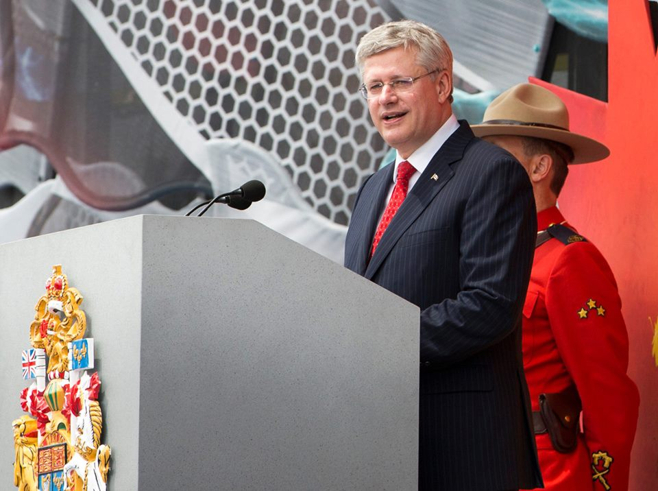 PM Stephen Harper. Photo courtesy of Harper's official Facebook page.