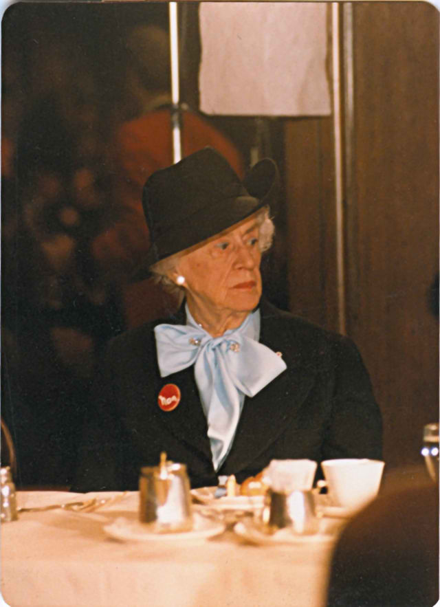 Legendary feminist Thérèse Casgrain in 1980 (Wikipedia photo)