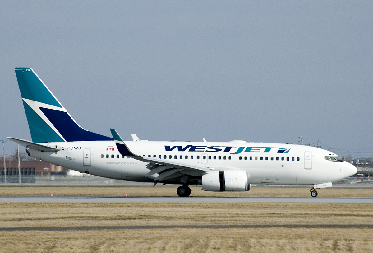 A WestJet Boeing 737-700. Photo from Brian / Flickr.