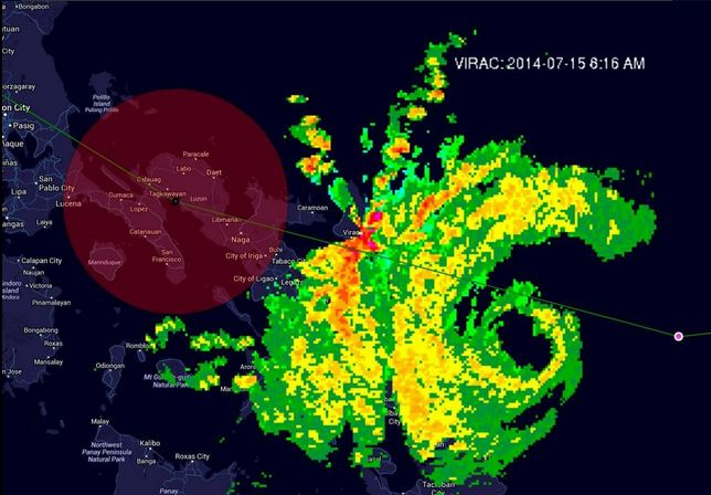 Track of Typhoon #GlendaPH via Met-Hydro Decision Support Infosys (MDSI).