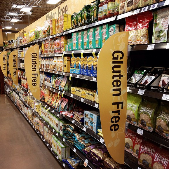 An aisle for gluten-free foods/ Photo from Flickr/ CC BY-ND 2.0