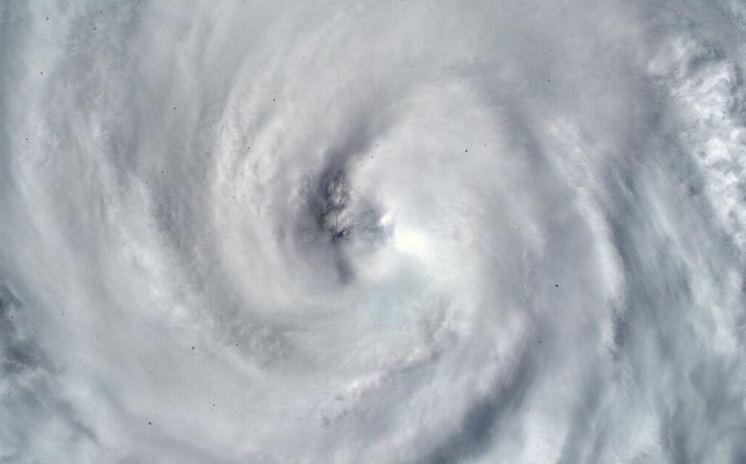Eye of the Storm: Hurricane 'Arthur' (Photo by Astronaut Alexander Gerst via Twitter)