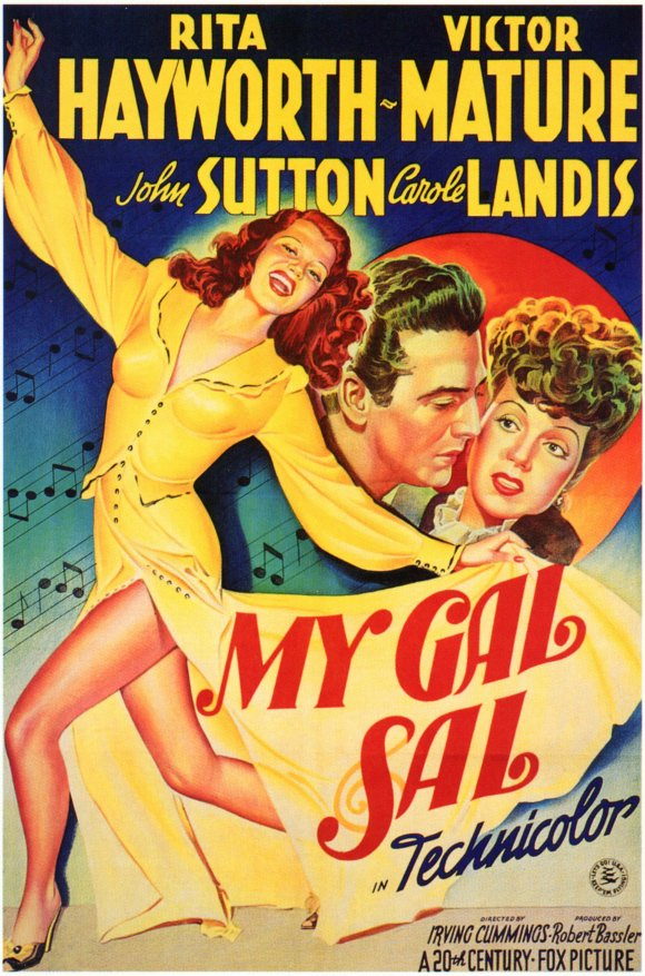 """""""My Gal Sal"""" movie poster. Photo from moviepostershop.com."""