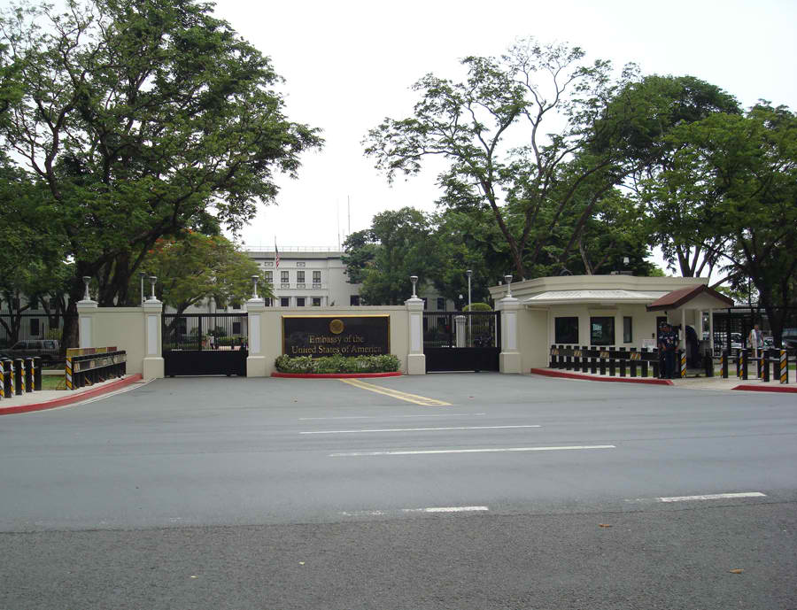 US Embassy in Manila. (Photo from usembassymanilavisa.com)