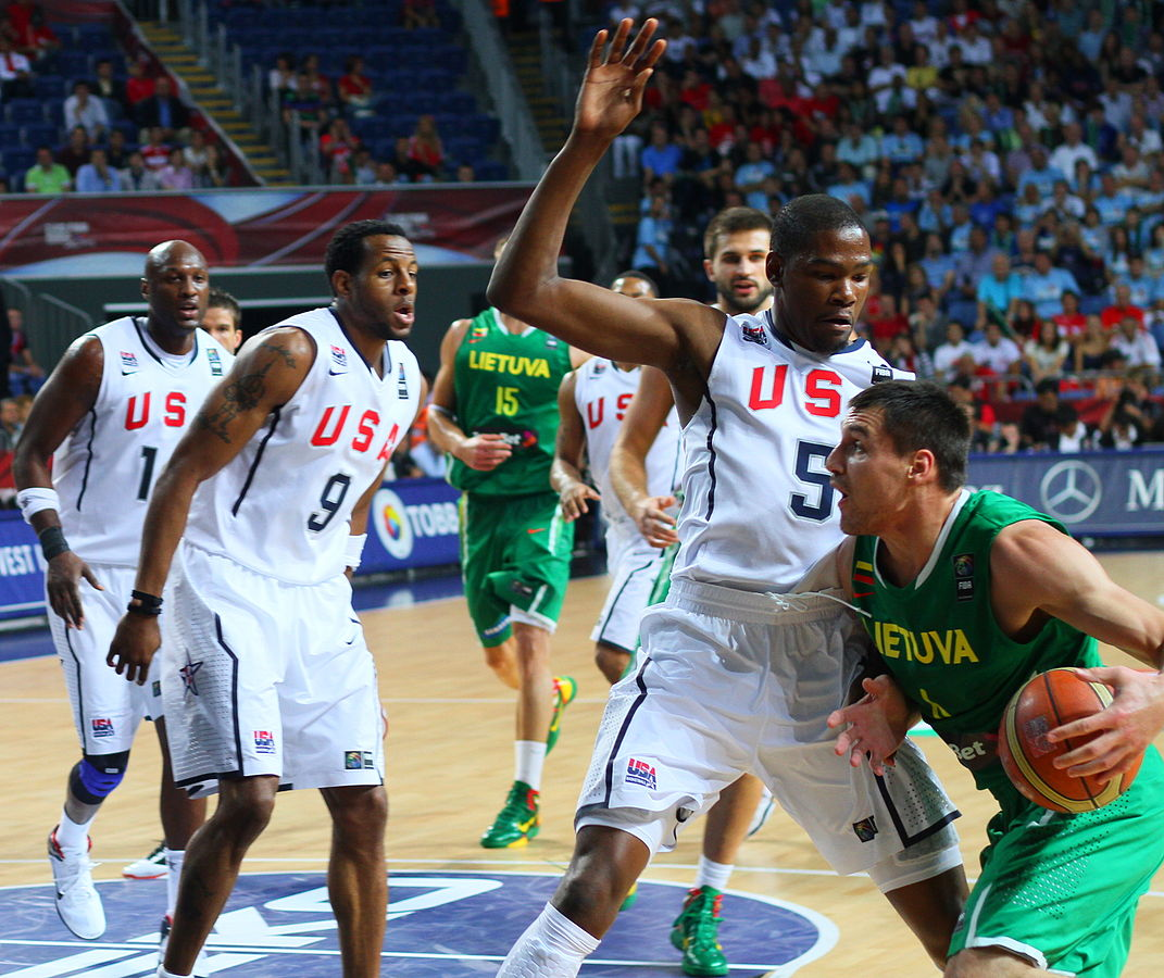 Team USA faced Lithuania in the 2010 semi-finals of the Basketball World Cup. Photo from globalite  / Flickr.