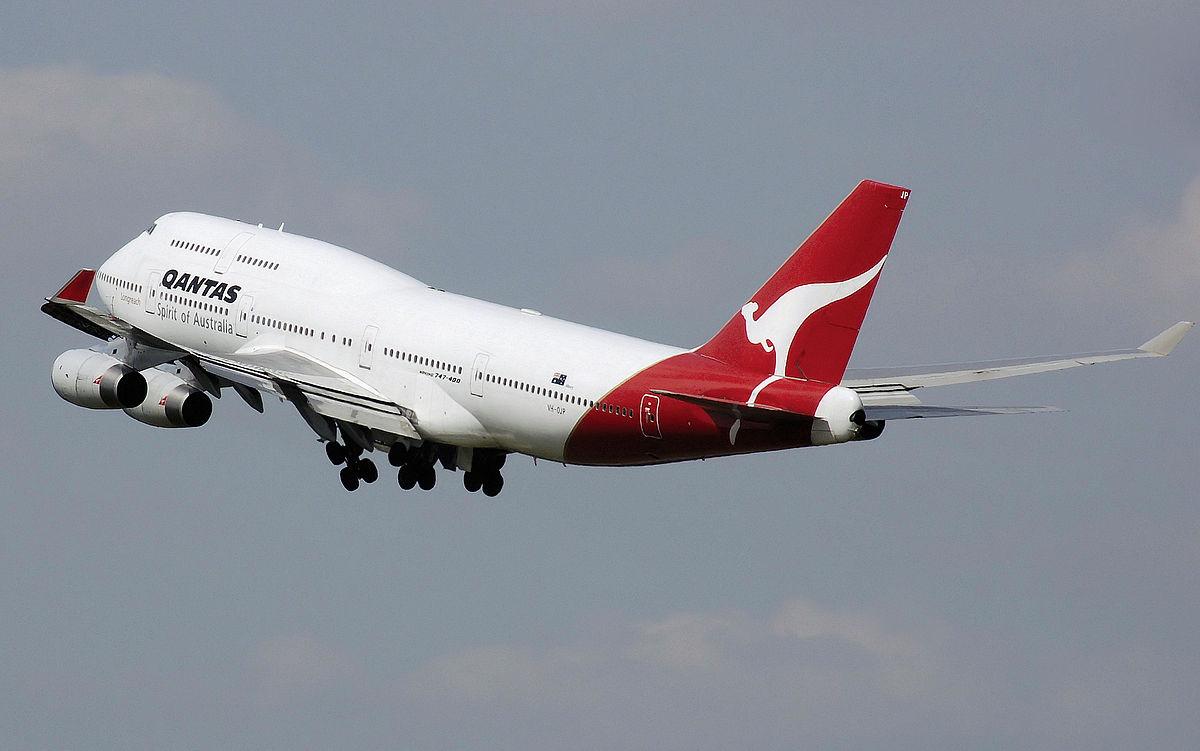 Qantas airplane. Photo from Wikimedia Commons.
