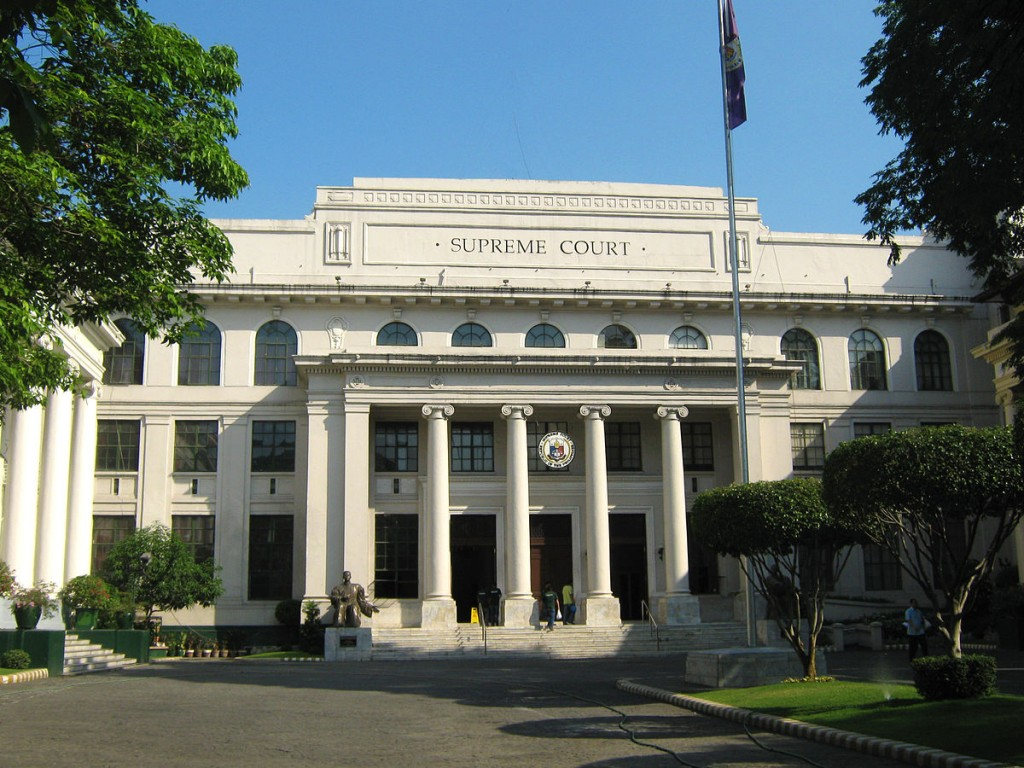The Supreme Court of the Philippines building in Manila, Philippines. (Photo by Mike Gonzalez/Wikimedia Commons)