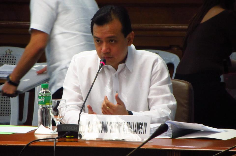 Sen. Antonio Trillanes IV. Photo courtesy of Trillanes' Facebook page.
