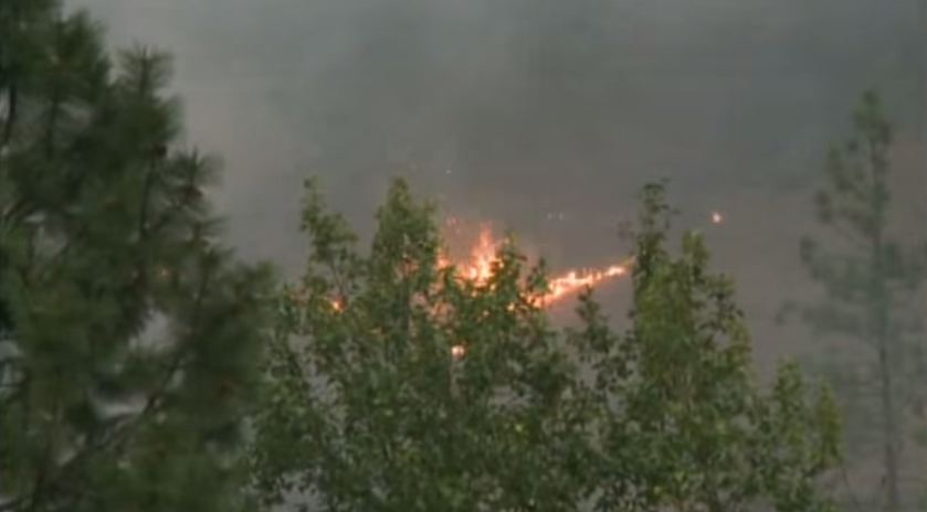 BC Wildfire (screengrab from ufoscandinavia footage)