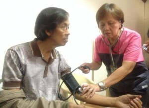 Jovito Palparan undergoes routine medical check-up after arrest. Photo: Tricia Terada / Twitter