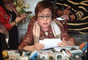 Justice Sec. Leila De Lima (screengrab from News5 InterAksyon footage)
