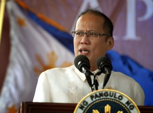 "President Benigno S. Aquino III delivers his speech during the commemoration of the 150th birth anniversary of Apolinario Mabini at the Mabini Shrine in Barangay Talaga, Tanauan City, Batangas on Wednesday (July 23). With the theme: ""Mabini: Talino at Paninindigan,"" the yearlong festivity aims to honor Mabini, the ""Sublime Paralytic,"" as the brains behind the Philippine revolution. (Photo by Gil Nartea / Malacañang Photo Bureau)"
