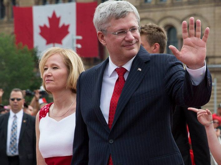 Prime Minister Stepher Harper and wife at the Canada Day 2014 celebrations. (Facebook photo)