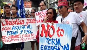 Anti-pork rally in Luneta (Carlo Mateo / DZBB via Twitter)