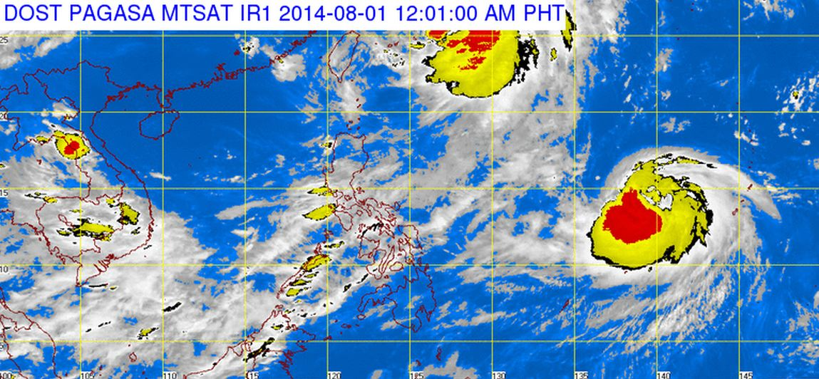 'Inday' now out of PAR (DOST-PAGASA satellite image)