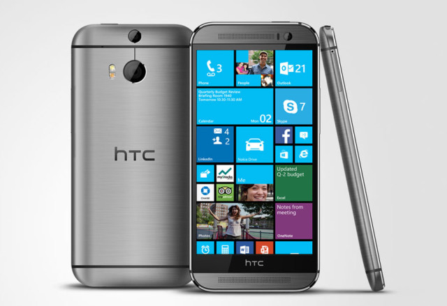 HTC's Windows phone: the M8. Photo from nerdeky.com.