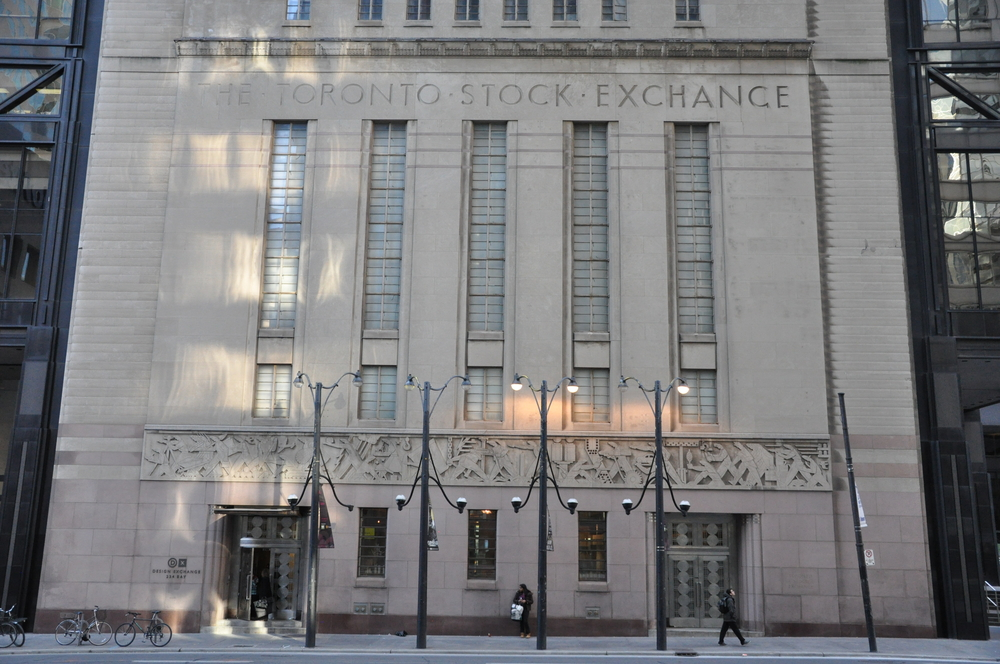 Facade of the Toronto Stock Exchange (ShutterStock image)