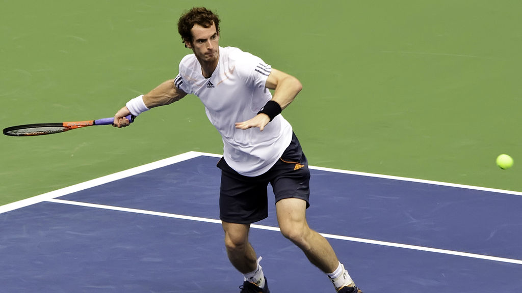 Andy Murray. Photo by Francisco Diez / Wikimedia Commons.