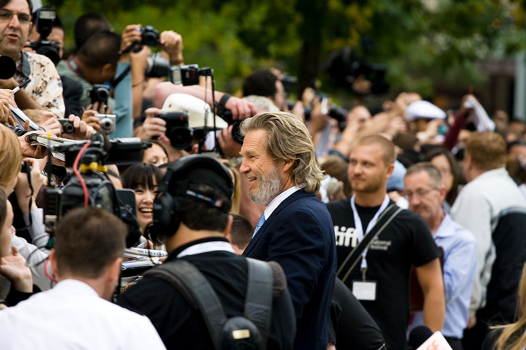 "Jeff Bridges at the premiere of ""The Men Who Stare at Goats"" at the 2009 Toronto International Film Festival. Photo by Josh Jensen / Flickr."