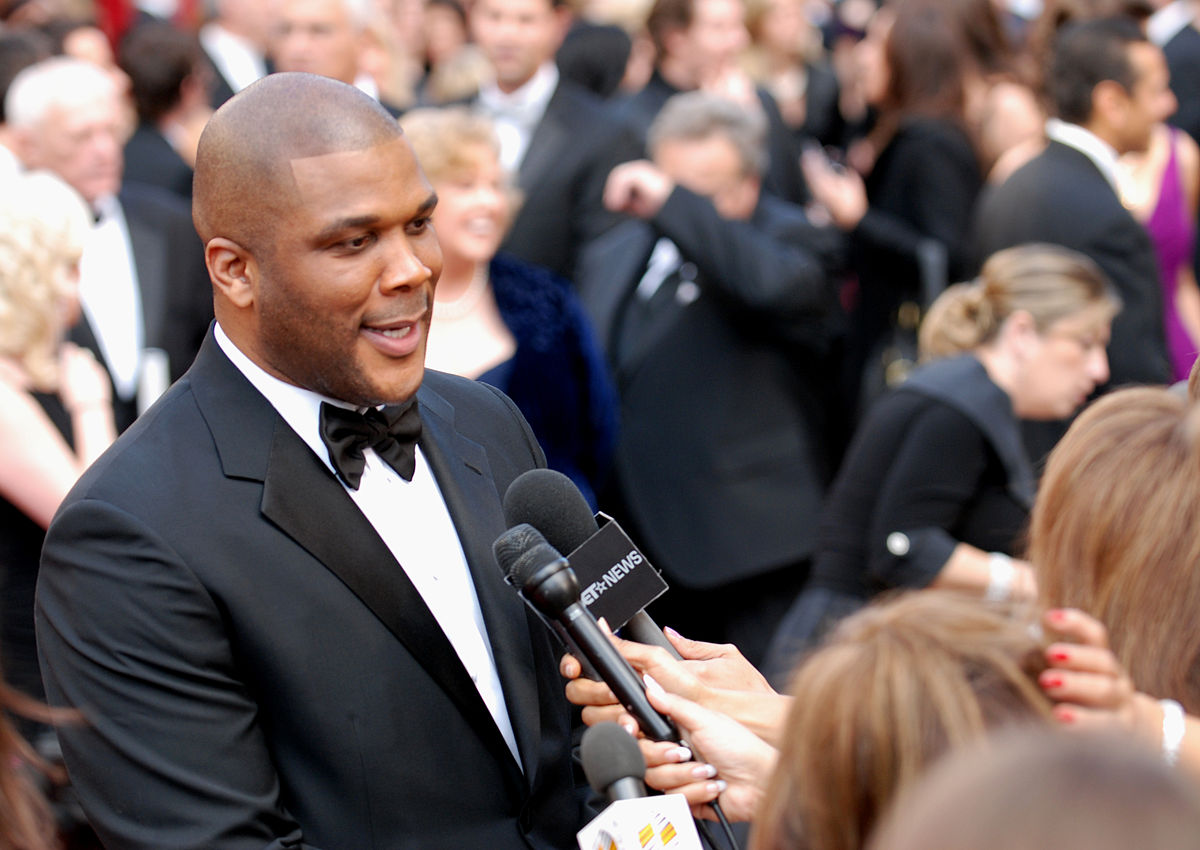 Tyler Perry. Photo by Sgt. Michael Connors / Wikimedia Commons.