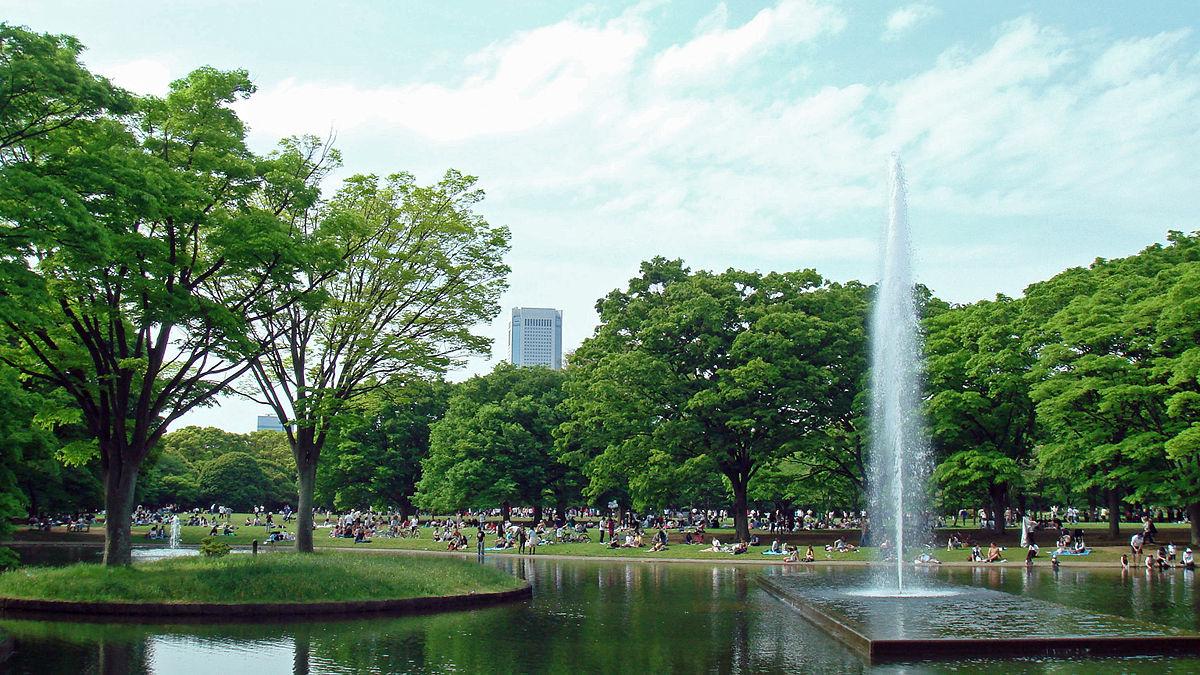 Fountain of Yoyogi park in Tokyo, Japan. Photo by Shinjiro / Wikimedia Commons.