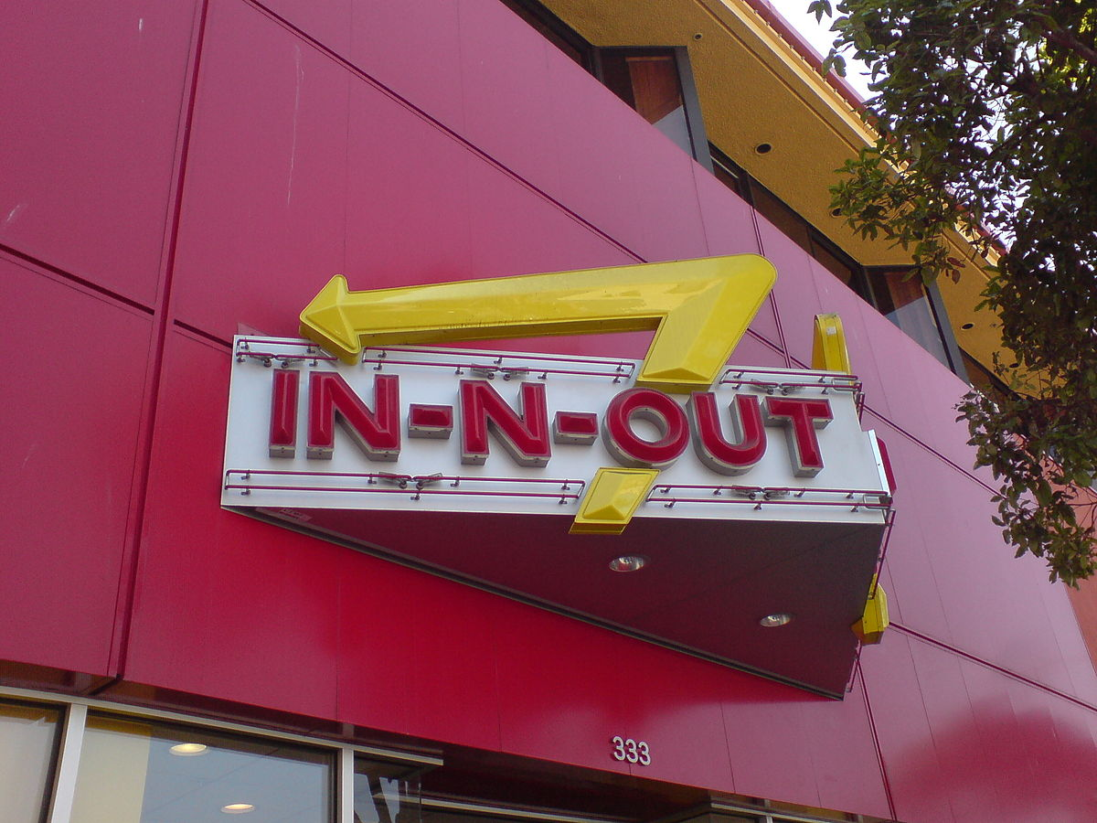 In-N-Out Burger sign at Fisherman's Wharf in San Francisco. Photo by Karsten Behrens / Wikimedia Commons.