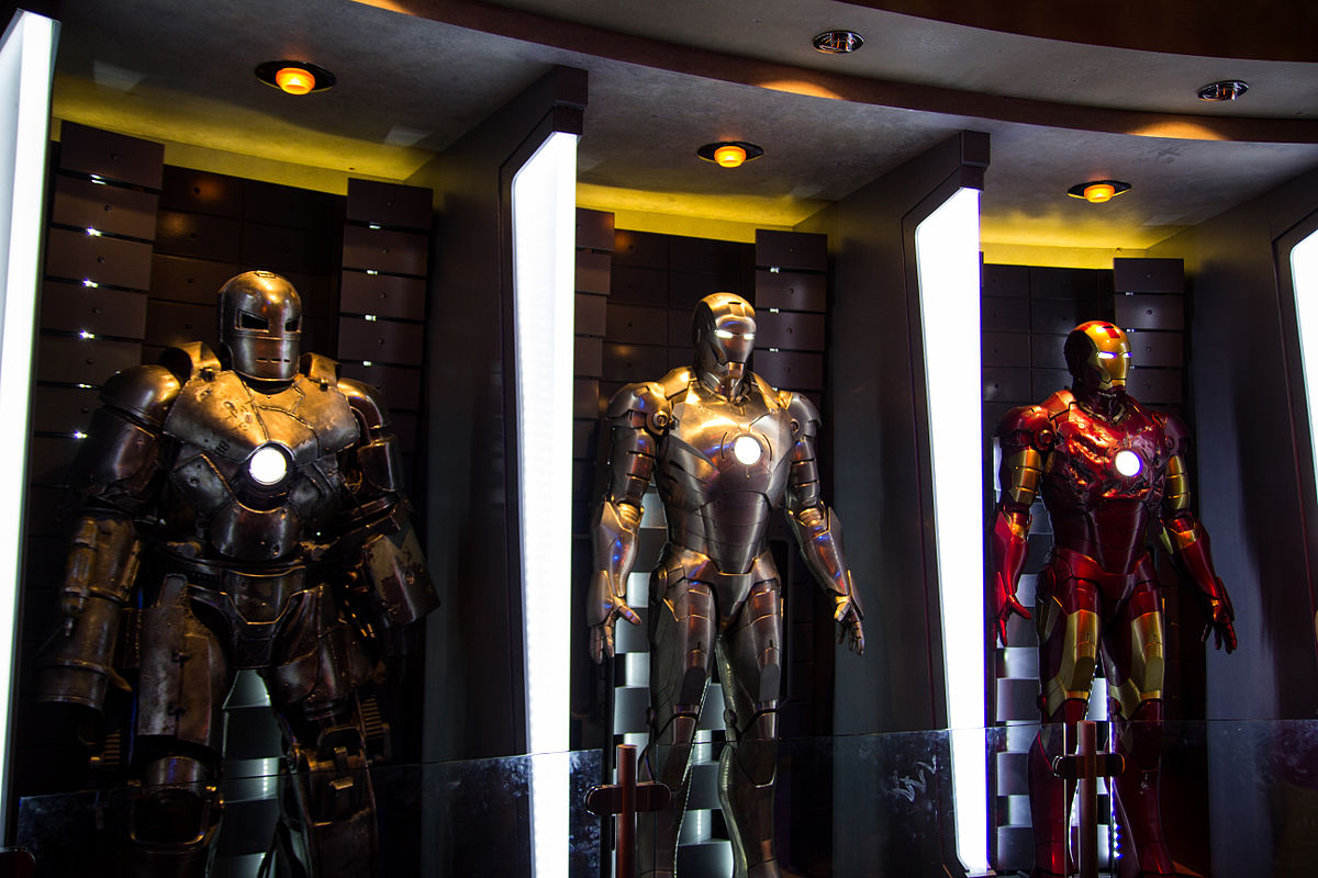 The Iron Man Hall of Armor at Innoventions in Disneyland. Photo by HarshLight / Flickr.