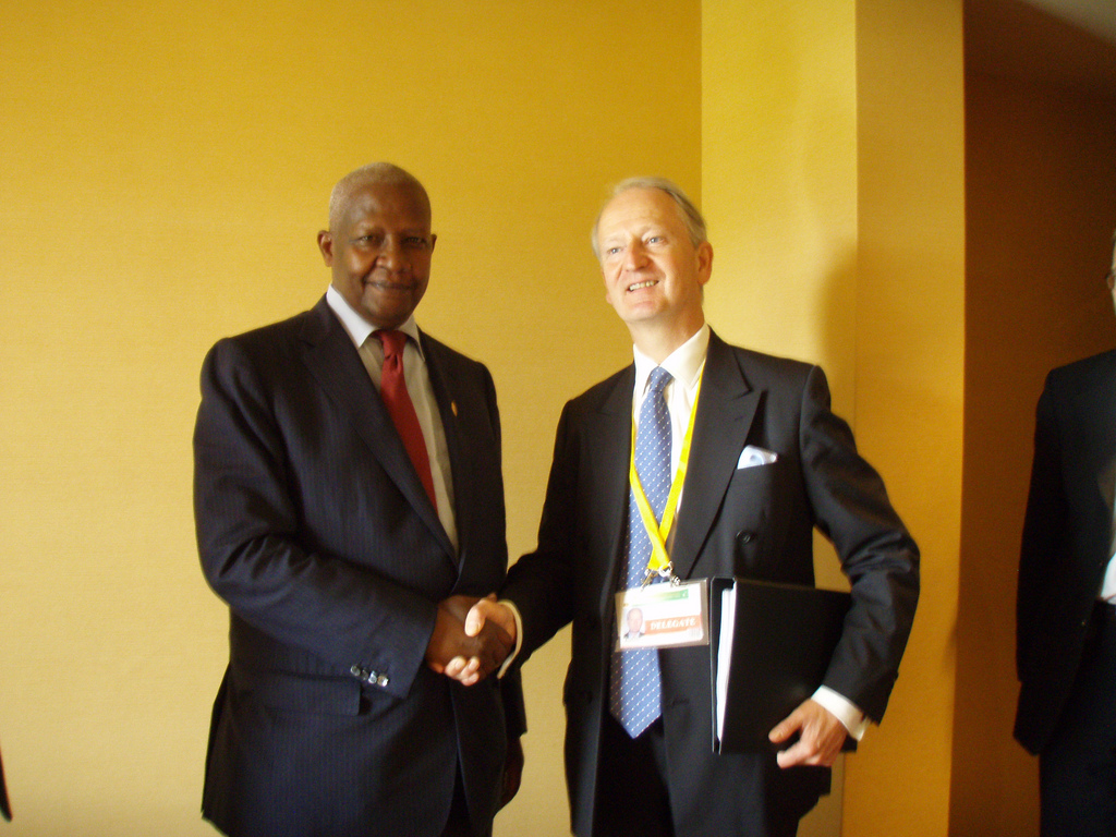 Ugandan Foreign Minister Sam Kutesa with Henry Bellingham. Photo from the Foreign and Commonwealth Office / Flickr.
