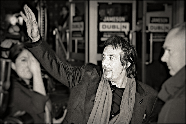 Al Pacino at the Jameson Dublin International Film Festival. Photo by Tristan Reville / Flickr.