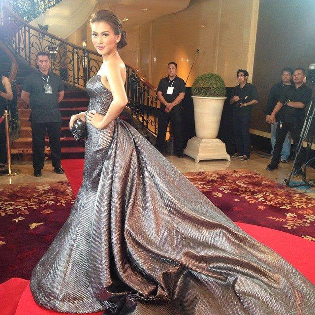 Alex Gonzaga gown detail from Gitri San Diego's Facebook page