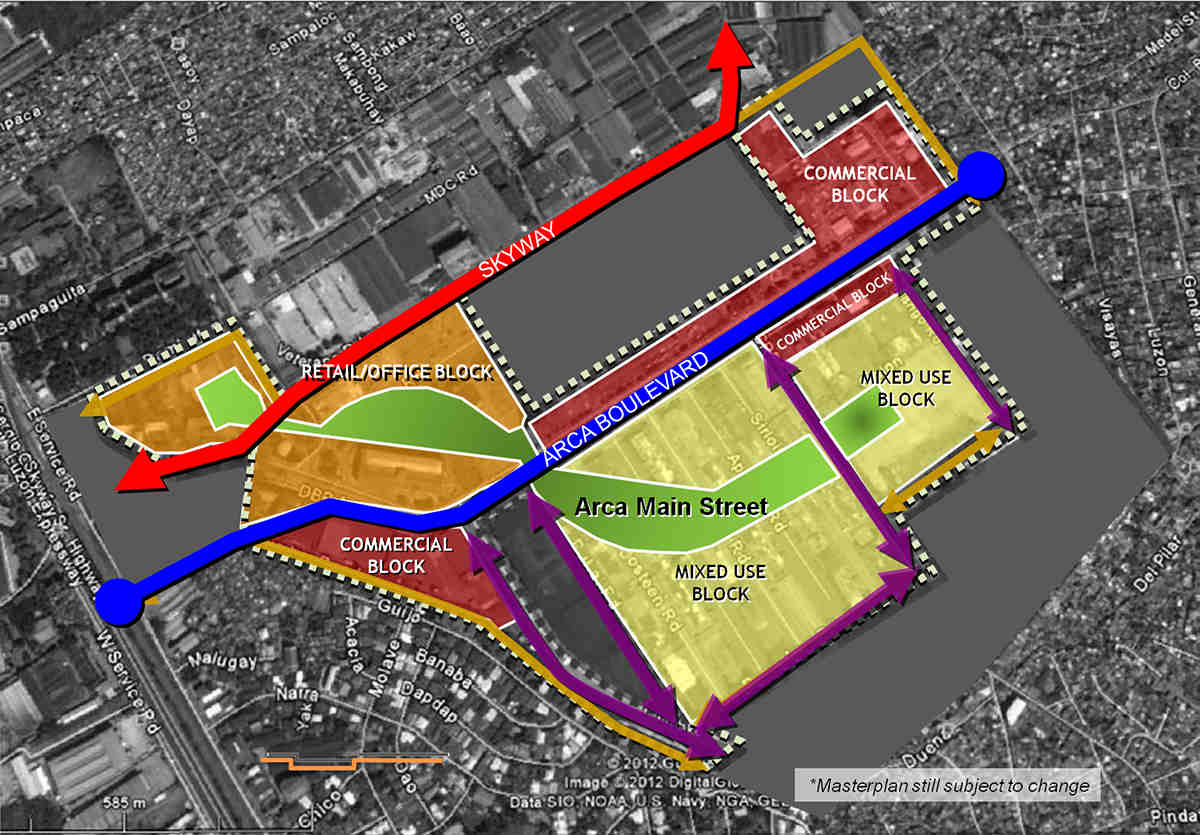 Arca South development plan (from arcasouth.ph)