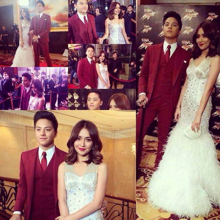 Collage of Daniel Padilla and Kathryn Bernardo