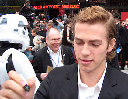 Christensen during Star Wars: Episode III premiere in Berlin. Photo by MarcoKraus / Flickr.