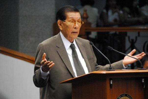 Sen. Juan Ponce Enrile (Facebook photo)