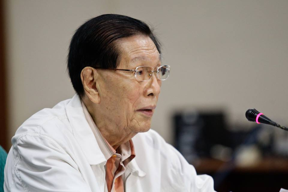 Senator Juan Ponce Enrile has been among the accused in the new P500-million pork barrel scam. (Facebook photo)