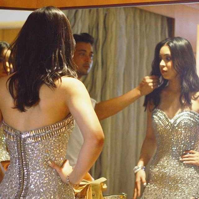 Back detail of Julia Barretto's gown, from Rajo Laurel's Facebook page
