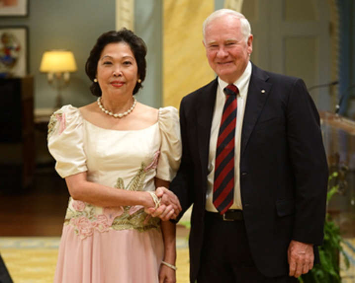 Governor General Johnston welcomes Ambassador Garcia
