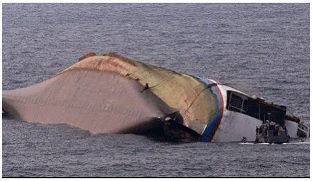 Capsized MV Maharlika II (screengrab from Brigada.ph)
