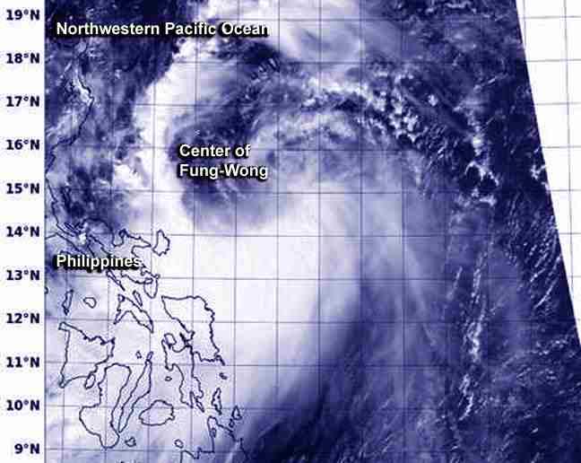 This visible image of Tropical Storm Mario (Fung-Wong) was taken on Sept. 18 at 05:24 UTC from the VIIRS instrument aboard NOAA-NASA's Suomi NPP satellite. (Image Credit: NRL/NOAA/NASA)