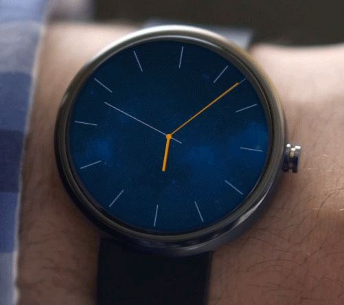 The Moto 360. Photo from G 4 Games / Wikimedia Commons.
