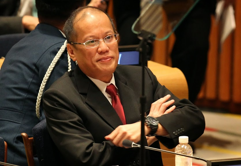 President Benigno Simeon Aquino III delivers his speech during United Nation Climate Change Summit held at the UN Headquarters here on Tuesday (September 23). (Photo by Ryan Lim / Malacanang Photo Bureau)