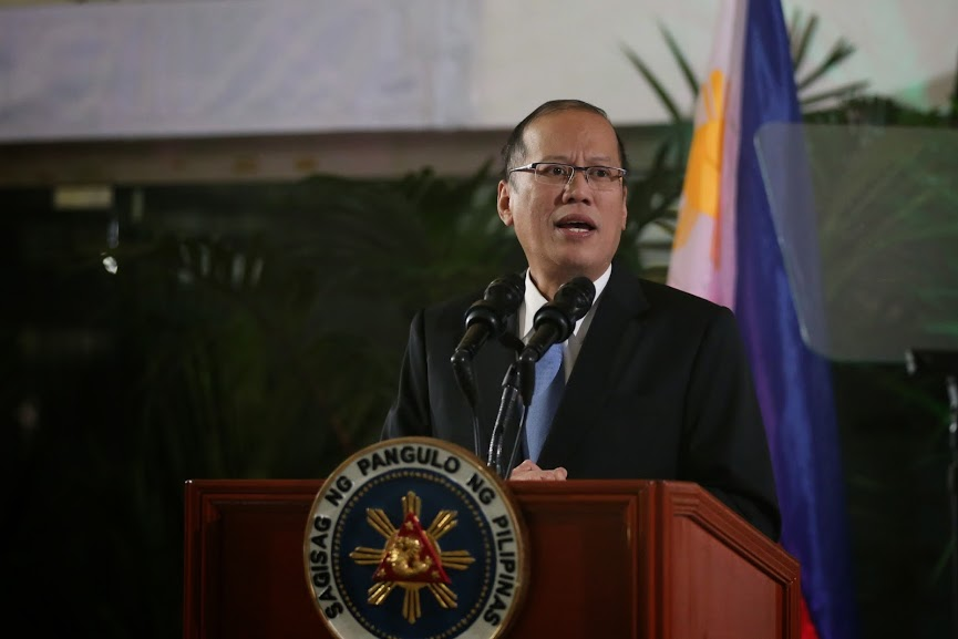 President Benigno S. Aquino III delivers his speech at the Ninoy Aquino International Airport in Manila, Thursday (September 25) upon arrival from his successful working visits to Spain, Belgium, France, Germany, and the United States. (Photo by Benhur Arcayan Malacañang Photo Bureau)