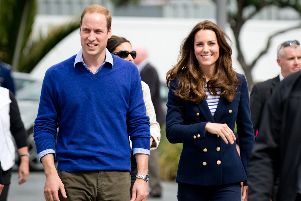 Duke and Duchess of Cambridge (Prince William and Kate Middleton) visit Auckland's Viaduct Harbour during their New Zealand tour on April 11, 2014 in Auckland, New Zealand. Shaun Jeffers / Shutterstock