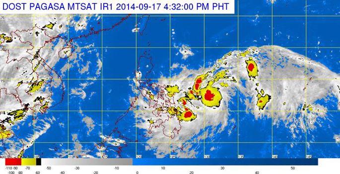 Satellite image courtesy of DOST PAGASA