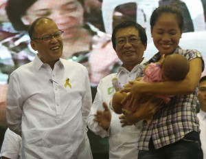 "President Benigno S. Aquino III graces the launching of Ligtas sa Tigdas at Polio Mass Immunization Campaign at the DOH Convention Hall in San Lazaro Compound, Sta. Cruz, Manila City on Monday (September 01). With theme: ""Ligtas sa Tigdas: Magkaisa, Magpabakuna,"" this nationwide campaign is a follow-up to the 2011 Measles Rubella Supplemental Immunization Activity to interrupt current transmission of measles in the country. Also in photo is Health Secretary Dr. Enrique Ona. (Photo by Ryan Lim / Malacañang Photo Bureau)"
