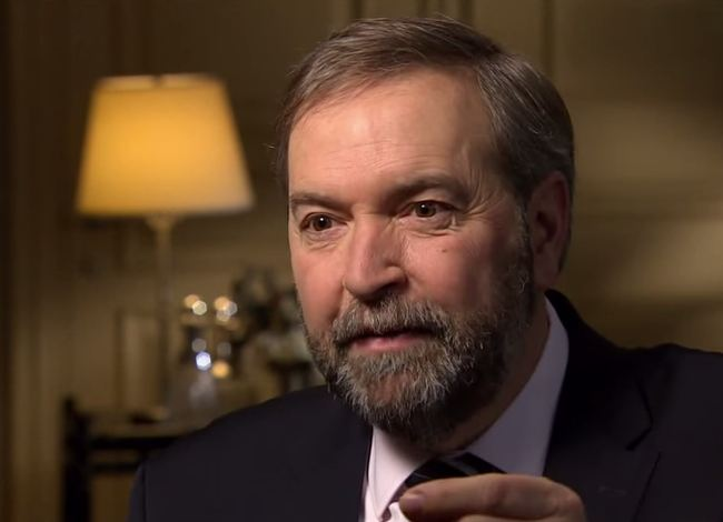 Tom Mulcair (Screengrab from Canucks Politics)